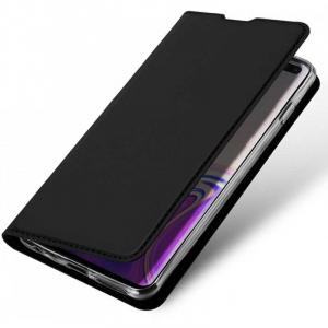 Husa Samsung Galaxy S10 2019 Toc Flip Tip Carte Portofel Piele Eco Premium DuxDucis Negru [2]