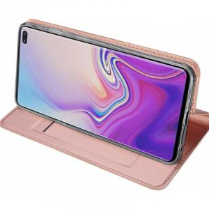 Husa Samsung Galaxy S10 2019 Toc Flip Tip Carte Portofel Piele Eco Premium DuxDucis Roz [2]