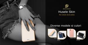 Husa Samsung Galaxy S10 E 2019 Toc Flip Portofel Negru Piele Eco DuxDucis [5]