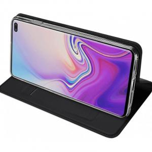 Husa Samsung Galaxy S10 E 2019 Toc Flip Portofel Negru Piele Eco DuxDucis [1]