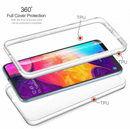 Husa Samsung Galaxy S10 360 Grade Silicon Fata Spate Transparenta2