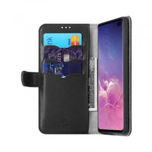 Husa Samsung Galaxy S10 Plus 2019 Toc Flip Tip Carte Portofel Negru Piele Eco Premium DuxDucis Kado [1]