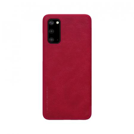 Husa Flip Samsung Galaxy S20 Rosu Tip Carte Magnetica Nillkin Qin2