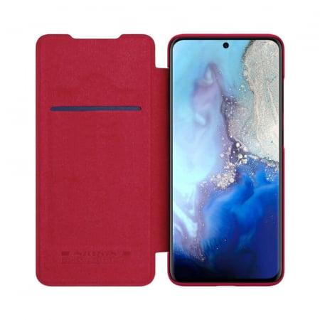 Husa Flip Samsung Galaxy S20 Rosu Tip Carte Magnetica Nillkin Qin1