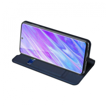 Husa Samsung Galaxy S20 2020 Toc Flip Tip Carte Portofel Bleumarin Piele Eco DuxDucis [2]