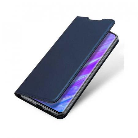 Husa Samsung Galaxy S20 2020 Toc Flip Tip Carte Portofel Bleumarin Piele Eco DuxDucis [3]