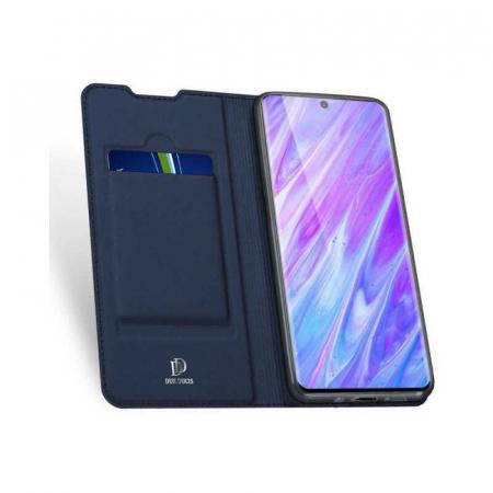 Husa Samsung Galaxy S20 2020 Toc Flip Tip Carte Portofel Bleumarin Piele Eco DuxDucis [1]