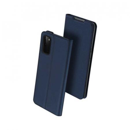 Husa Samsung Galaxy S20 2020 Toc Flip Tip Carte Portofel Bleumarin Piele Eco DuxDucis [0]