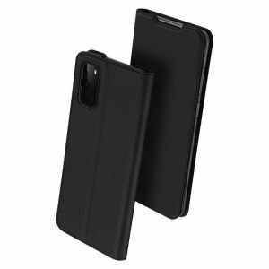 Husa Samsung Galaxy S20 2020 Toc Flip Tip Carte Portofel Piele Eco Premium DuxDucis Negru0