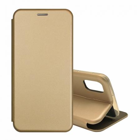 Husa Samsung Galaxy S20 FE Auriu Gold Tip Carte Flip Cover din Piele Ecologica Portofel cu Inchidere Magnetica1