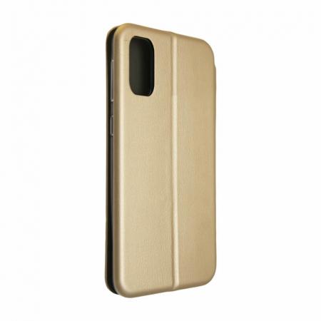 Husa Samsung Galaxy S20 FE Auriu Gold Tip Carte Flip Cover din Piele Ecologica Portofel cu Inchidere Magnetica3