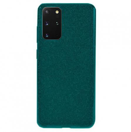 Husa Samsung Galaxy S20 Plus Sclipici Dark Green Silicon