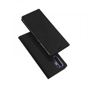 Husa Samsung Galaxy S20 Plus 2020 Toc Flip Portofel Negru Piele Eco DuxDucis4