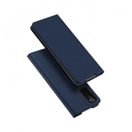 Husa Samsung Galaxy S20 Plus 2020 Toc Flip Tip Carte Portofel Bleumarin Piele Eco DuxDucis [4]