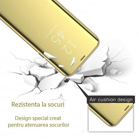 Husa Samsung Galaxy S20 Ultra 2020 Clear View Auriu Gold1
