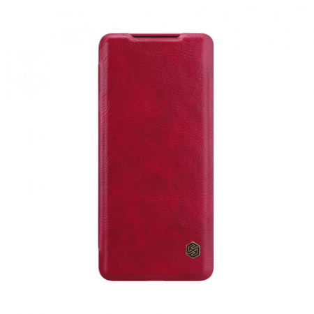 Husa Samsung Galaxy S20 Ultra 2020 Rosu Toc Flip Nillkin Qin Piele Eco Premium Tip Carte Portofel [0]