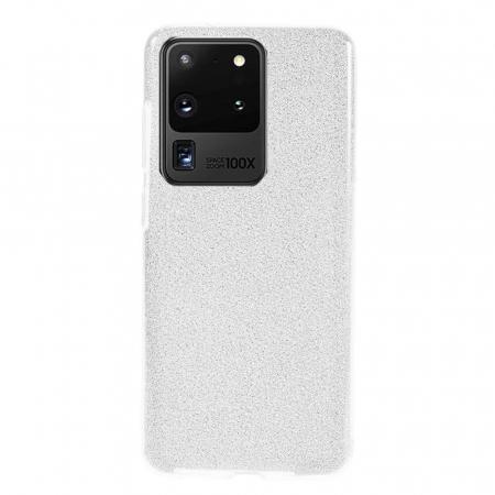 Husa Samsung Galaxy S20 Ultra Sclipici Argintiu Silicon