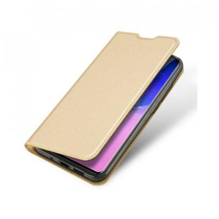 Husa Samsung Galaxy S20 Ultra 2020 Toc Flip Tip Carte Portofel Auriu Gold Piele Eco DuxDucis [3]