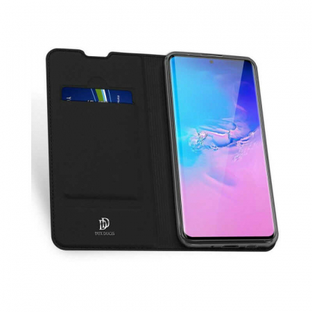 Husa Samsung Galaxy S20 Ultra 2020 Toc Flip Tip Carte Portofel Negru Piele Eco DuxDucis [1]