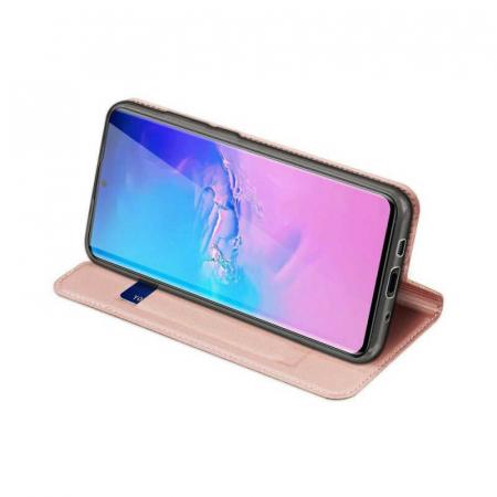 Husa Samsung Galaxy S20 Ultra 2020 Toc Flip Tip Carte Portofel Roz Piele Eco DuxDucis [2]