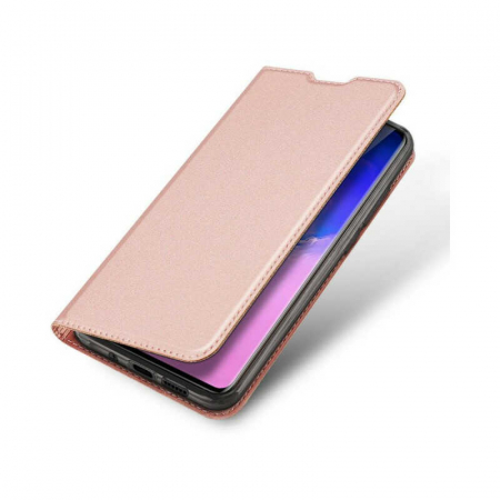 Husa Samsung Galaxy S20 Ultra 2020 Toc Flip Tip Carte Portofel Roz Piele Eco DuxDucis [3]