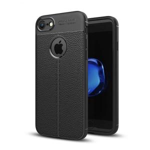 Husa iPhone 7 Silicon TPU Colorat Negru-Autofocus Black