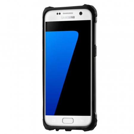 Husa Samsung Galaxy S7 Silicon Antisoc Negru Hybrid Armor2