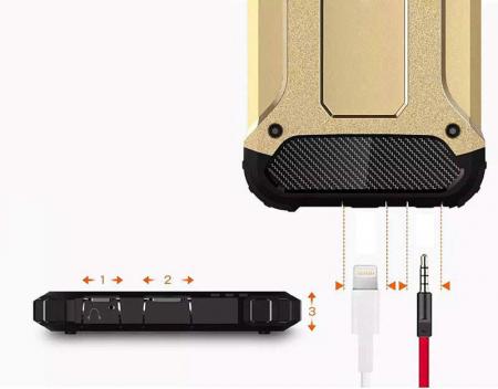 Husa Samsung Galaxy S7 Silicon Antisoc Negru Hybrid Armor7