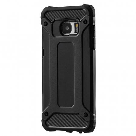 Husa Samsung Galaxy S7 Silicon Antisoc Negru Hybrid Armor8