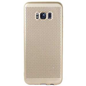 Husa Samsung Galaxy S8 2017 Carcasa Spate Perforata Auriu Gold1