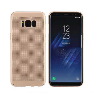 Husa Samsung Galaxy S8 2017 Carcasa Spate Perforata Auriu Gold0