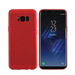 Husa Samsung Galaxy S8 2017 Carcasa Spate Perforata Rosu0