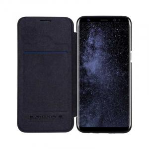 Husa Samsung Galaxy S8 2017 Negru Toc Flip Nillkin Qin Piele Eco Premium Tip Carte Portofel2