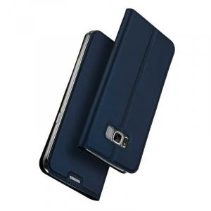 Husa Samsung Galaxy S8 2017 Toc Flip Portofel Bleumarin Piele Eco DuxDucis3
