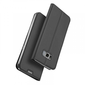 Husa Flip Samsung Galaxy S8 Tip Carte Negru Skin DuxDucis3