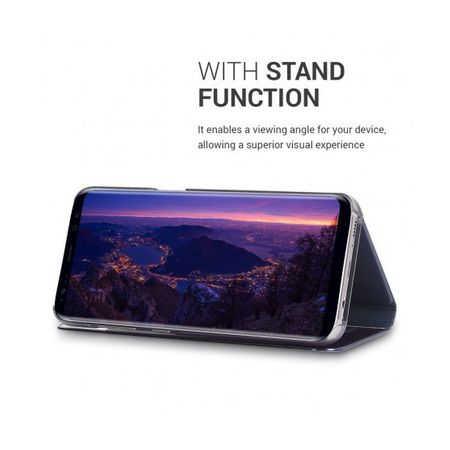 Husa Samsung Galaxy S8 Plus 2017 Clear View Flip Toc Carte Standing Cover Oglinda Mov (Purple)4