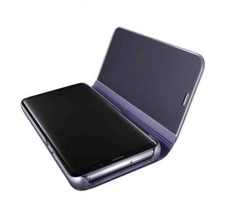 Husa Samsung Galaxy S8 Plus 2017 Clear View Flip Toc Carte Standing Cover Oglinda Mov (Purple)2