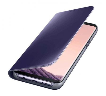 Husa Samsung Galaxy S8 Plus 2017 Clear View Flip Toc Carte Standing Cover Oglinda Mov (Purple)1