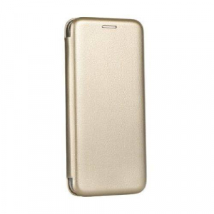 Husa Samsung Galaxy S8 Tip Carte Flip Cover din Piele Ecologica Auriu Portofel cu Inchidere Magnetica ( Gold )