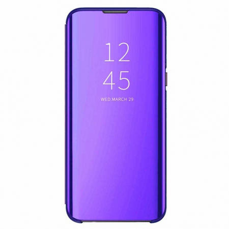 Husa Samsung Galaxy S9 2018 Clear View Flip Toc Carte Standing Cover Oglinda Mov (Purple)0