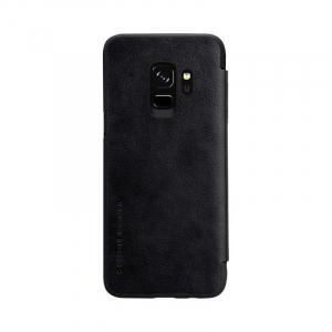 Husa Flip Samsung Galaxy S9 Negru Tip Carte Magnetica Nillkin Qin5