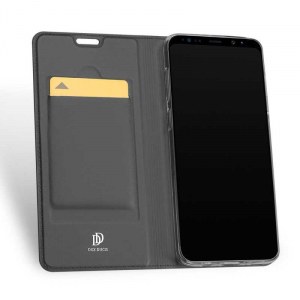 Husa Flip Samsung Galaxy S9 Tip Carte Negru Skin DuxDucis1