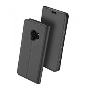 Husa Flip Samsung Galaxy S9 Tip Carte Negru Skin DuxDucis0