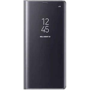 Husa Samsung Galaxy S9 Plus 2018 Clear View Flip Toc Carte Standing Cover Oglinda Negru (Black)0