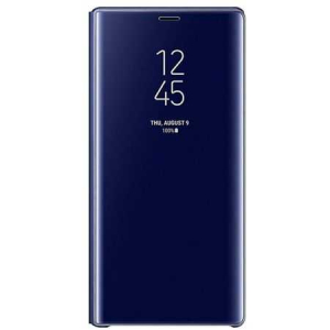 Husa Flip Mirror Samsung Galaxy S9 Plus 2018 Albastru Clear View Oglinda0