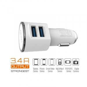 Incarcator Auto Bricheta Premium Quality Ldnio 3.4 A Fast Charge Cu 2 Porturi USB + Cablu Inclus3