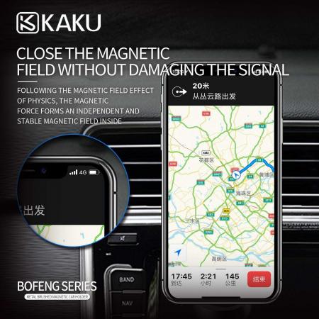 Suport Auto Pentru Grila De Ventilatie Magnetic Kaku Negru4