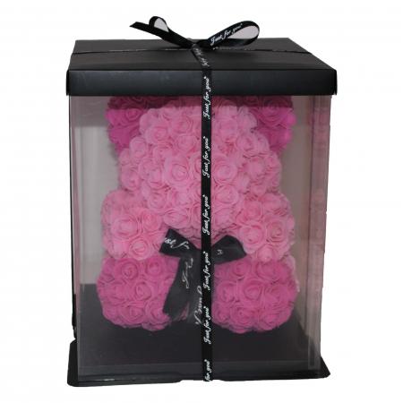 Ursulet din Trandafiri Roz 2 Nuante1