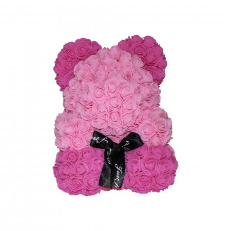 Ursulet din Trandafiri Roz 2 Nuante0