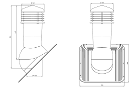 Cos ventilare tablă șindrilă bituminoasă, membrană [1]